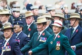 Remembrance Sunday at the Cenotaph 2015: Group D16, Gurkha Brigade Association. Cenotaph, Whitehall, London SW1, London, Greater London, United Kingdom, on 08 November 2015 at 11:54, image #689