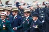 Remembrance Sunday at the Cenotaph 2015: Group D16, Gurkha Brigade Association. Cenotaph, Whitehall, London SW1, London, Greater London, United Kingdom, on 08 November 2015 at 11:54, image #691