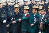 Remembrance Sunday at the Cenotaph 2015: Group D17, British Gurkha Welfare Society. Cenotaph, Whitehall, London SW1, London, Greater London, United Kingdom, on 08 November 2015 at 11:54, image #693
