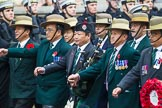 Remembrance Sunday at the Cenotaph 2015: Group D17, British Gurkha Welfare Society. Cenotaph, Whitehall, London SW1, London, Greater London, United Kingdom, on 08 November 2015 at 11:54, image #694
