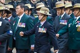 Remembrance Sunday at the Cenotaph 2015: Group D17, British Gurkha Welfare Society. Cenotaph, Whitehall, London SW1, London, Greater London, United Kingdom, on 08 November 2015 at 11:54, image #696