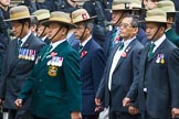 Remembrance Sunday at the Cenotaph 2015: Group D17, British Gurkha Welfare Society. Cenotaph, Whitehall, London SW1, London, Greater London, United Kingdom, on 08 November 2015 at 11:54, image #697