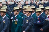 Remembrance Sunday at the Cenotaph 2015: Group D17, British Gurkha Welfare Society. Cenotaph, Whitehall, London SW1, London, Greater London, United Kingdom, on 08 November 2015 at 11:54, image #698