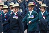 Remembrance Sunday at the Cenotaph 2015: Group D17, British Gurkha Welfare Society. Cenotaph, Whitehall, London SW1, London, Greater London, United Kingdom, on 08 November 2015 at 11:54, image #699