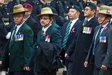 Remembrance Sunday at the Cenotaph 2015: Group D17, British Gurkha Welfare Society. Cenotaph, Whitehall, London SW1, London, Greater London, United Kingdom, on 08 November 2015 at 11:54, image #700