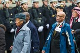 Remembrance Sunday at the Cenotaph 2015: Group D18, West Indian Association of Service Personnel. Cenotaph, Whitehall, London SW1, London, Greater London, United Kingdom, on 08 November 2015 at 11:55, image #702