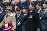 Remembrance Sunday at the Cenotaph 2015: Group D25, Hong Kong Ex-Servicemen's Association (UK Branch). Cenotaph, Whitehall, London SW1, London, Greater London, United Kingdom, on 08 November 2015 at 11:55, image #731