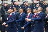 Remembrance Sunday at the Cenotaph 2015: Group D26, Hong Kong Military Service Corps. Cenotaph, Whitehall, London SW1, London, Greater London, United Kingdom, on 08 November 2015 at 11:55, image #733