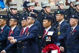 Remembrance Sunday at the Cenotaph 2015: Group D26, Hong Kong Military Service Corps. Cenotaph, Whitehall, London SW1, London, Greater London, United Kingdom, on 08 November 2015 at 11:56, image #734