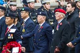 Remembrance Sunday at the Cenotaph 2015: Group D26, Hong Kong Military Service Corps. Cenotaph, Whitehall, London SW1, London, Greater London, United Kingdom, on 08 November 2015 at 11:56, image #735