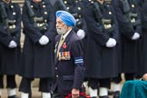 Remembrance Sunday at the Cenotaph 2015: Group D28, Undivided Indian Army Ex Servicemen Association. Cenotaph, Whitehall, London SW1, London, Greater London, United Kingdom, on 08 November 2015 at 11:56, image #745