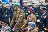 Remembrance Sunday at the Cenotaph 2015: Group D28, Undivided Indian Army Ex Servicemen Association. Cenotaph, Whitehall, London SW1, London, Greater London, United Kingdom, on 08 November 2015 at 11:56, image #747