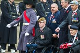 Remembrance Sunday at the Cenotaph 2015: Group F1, Blind Veterans UK. Cenotaph, Whitehall, London SW1, London, Greater London, United Kingdom, on 08 November 2015 at 11:57, image #750