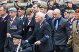 Remembrance Sunday at the Cenotaph 2015: Group F1, Blind Veterans UK. Cenotaph, Whitehall, London SW1, London, Greater London, United Kingdom, on 08 November 2015 at 11:57, image #752