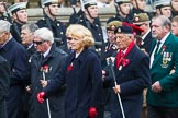 Remembrance Sunday at the Cenotaph 2015: Group F1, Blind Veterans UK. Cenotaph, Whitehall, London SW1, London, Greater London, United Kingdom, on 08 November 2015 at 11:57, image #756
