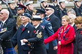 Remembrance Sunday at the Cenotaph 2015: Group F1, Blind Veterans UK. Cenotaph, Whitehall, London SW1, London, Greater London, United Kingdom, on 08 November 2015 at 11:57, image #761