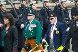 Remembrance Sunday at the Cenotaph 2015: Group F1, Blind Veterans UK. Cenotaph, Whitehall, London SW1, London, Greater London, United Kingdom, on 08 November 2015 at 11:57, image #765