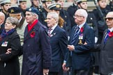 Remembrance Sunday at the Cenotaph 2015: Group F1, Blind Veterans UK. Cenotaph, Whitehall, London SW1, London, Greater London, United Kingdom, on 08 November 2015 at 11:57, image #771