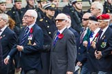 Remembrance Sunday at the Cenotaph 2015: Group F1, Blind Veterans UK. Cenotaph, Whitehall, London SW1, London, Greater London, United Kingdom, on 08 November 2015 at 11:57, image #772