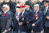 Remembrance Sunday at the Cenotaph 2015: Group F1, Blind Veterans UK. Cenotaph, Whitehall, London SW1, London, Greater London, United Kingdom, on 08 November 2015 at 11:57, image #773