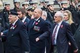 Remembrance Sunday at the Cenotaph 2015: Group F1, Blind Veterans UK. Cenotaph, Whitehall, London SW1, London, Greater London, United Kingdom, on 08 November 2015 at 11:57, image #775