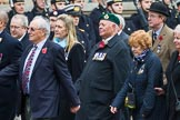 Remembrance Sunday at the Cenotaph 2015: Group F1, Blind Veterans UK. Cenotaph, Whitehall, London SW1, London, Greater London, United Kingdom, on 08 November 2015 at 11:57, image #776