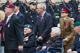 Remembrance Sunday at the Cenotaph 2015: Group F1, Blind Veterans UK. Cenotaph, Whitehall, London SW1, London, Greater London, United Kingdom, on 08 November 2015 at 11:57, image #780