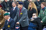 Remembrance Sunday at the Cenotaph 2015: Group F1, Blind Veterans UK. Cenotaph, Whitehall, London SW1, London, Greater London, United Kingdom, on 08 November 2015 at 11:57, image #782