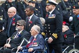 Remembrance Sunday at the Cenotaph 2015: Group F1, Blind Veterans UK. Cenotaph, Whitehall, London SW1, London, Greater London, United Kingdom, on 08 November 2015 at 11:57, image #785
