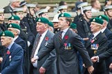 Remembrance Sunday at the Cenotaph 2015: Group E1, Royal Marines Association. Cenotaph, Whitehall, London SW1, London, Greater London, United Kingdom, on 08 November 2015 at 11:58, image #796