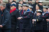 Remembrance Sunday at the Cenotaph 2015: Group E3, Merchant Navy Association. Cenotaph, Whitehall, London SW1, London, Greater London, United Kingdom, on 08 November 2015 at 11:59, image #818