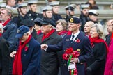 Remembrance Sunday at the Cenotaph 2015: Group E3, Merchant Navy Association. Cenotaph, Whitehall, London SW1, London, Greater London, United Kingdom, on 08 November 2015 at 11:59, image #825