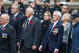 Remembrance Sunday at the Cenotaph 2015: Group E4, Sea Harrier Association. Cenotaph, Whitehall, London SW1, London, Greater London, United Kingdom, on 08 November 2015 at 11:59, image #838