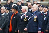 Remembrance Sunday at the Cenotaph 2015: Group E6, HMS Andromeda Association. Cenotaph, Whitehall, London SW1, London, Greater London, United Kingdom, on 08 November 2015 at 11:59, image #842