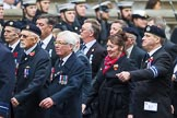 Remembrance Sunday at the Cenotaph 2015: Group E6, HMS Andromeda Association, and E7, HMS Argonaut Association. Cenotaph, Whitehall, London SW1, London, Greater London, United Kingdom, on 08 November 2015 at 11:59, image #843