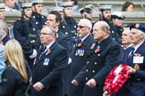 Remembrance Sunday at the Cenotaph 2015: Group E8, HMS Bulwark, Albion & Centaur Association. Cenotaph, Whitehall, London SW1, London, Greater London, United Kingdom, on 08 November 2015 at 11:59, image #846