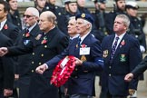 Remembrance Sunday at the Cenotaph 2015: Group E9, HMS Cumberland Association. Cenotaph, Whitehall, London SW1, London, Greater London, United Kingdom, on 08 November 2015 at 11:59, image #847