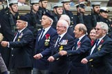 Remembrance Sunday at the Cenotaph 2015: Group E10, HMS Ganges Association. Cenotaph, Whitehall, London SW1, London, Greater London, United Kingdom, on 08 November 2015 at 11:59, image #853