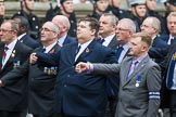 Remembrance Sunday at the Cenotaph 2015: Group E11, HMS Glasgow Association. Cenotaph, Whitehall, London SW1, London, Greater London, United Kingdom, on 08 November 2015 at 12:00, image #859