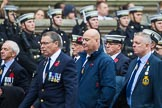 Remembrance Sunday at the Cenotaph 2015: Group E11, HMS Glasgow Association. Cenotaph, Whitehall, London SW1, London, Greater London, United Kingdom, on 08 November 2015 at 12:00, image #863
