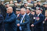 Remembrance Sunday at the Cenotaph 2015: Group E12, HMS St Vincent Association. Cenotaph, Whitehall, London SW1, London, Greater London, United Kingdom, on 08 November 2015 at 12:00, image #864