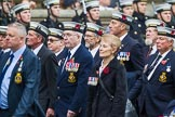 Remembrance Sunday at the Cenotaph 2015: Group E12, HMS St Vincent Association. Cenotaph, Whitehall, London SW1, London, Greater London, United Kingdom, on 08 November 2015 at 12:00, image #865