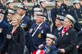 Remembrance Sunday at the Cenotaph 2015: Group E12, HMS St Vincent Association. Cenotaph, Whitehall, London SW1, London, Greater London, United Kingdom, on 08 November 2015 at 12:00, image #866