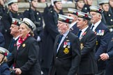 Remembrance Sunday at the Cenotaph 2015: Group E12, HMS St Vincent Association. Cenotaph, Whitehall, London SW1, London, Greater London, United Kingdom, on 08 November 2015 at 12:00, image #867