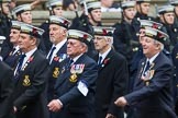 Remembrance Sunday at the Cenotaph 2015: Group E12, HMS St Vincent Association. Cenotaph, Whitehall, London SW1, London, Greater London, United Kingdom, on 08 November 2015 at 12:00, image #868