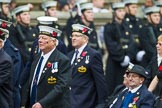 Remembrance Sunday at the Cenotaph 2015: Group E12, HMS St Vincent Association. Cenotaph, Whitehall, London SW1, London, Greater London, United Kingdom, on 08 November 2015 at 12:00, image #870