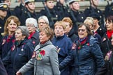 Remembrance Sunday at the Cenotaph 2015: Group E17, Queen Alexandra's Royal Naval Nursing Service. Cenotaph, Whitehall, London SW1, London, Greater London, United Kingdom, on 08 November 2015 at 12:00, image #892