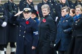 Remembrance Sunday at the Cenotaph 2015: Group E18, Association of WRENS. Cenotaph, Whitehall, London SW1, London, Greater London, United Kingdom, on 08 November 2015 at 12:01, image #898