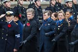 Remembrance Sunday at the Cenotaph 2015: Group E18, Association of WRENS. Cenotaph, Whitehall, London SW1, London, Greater London, United Kingdom, on 08 November 2015 at 12:01, image #899