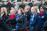 Remembrance Sunday at the Cenotaph 2015: Group E18, Association of WRENS. Cenotaph, Whitehall, London SW1, London, Greater London, United Kingdom, on 08 November 2015 at 12:01, image #903
